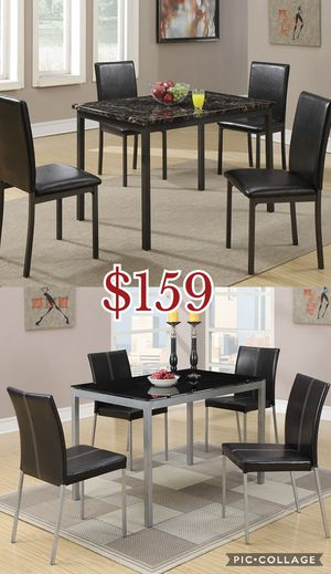 5pcs dining table set, table and chairs for Sale in Los Angeles, CA