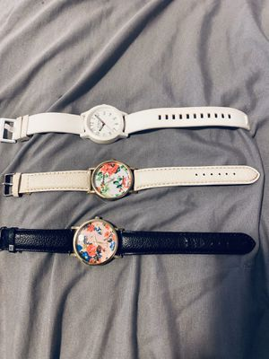 Three Watches (2 white, 1 black) for Sale in Chino, CA