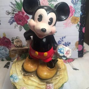"""Vintage Mickey Mouse 1950 Music Figurine Euc It's A Small World"""" for Sale in Northfield, OH"""