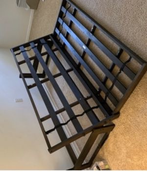 BRAND NEW Full size futon frame w/black mattress for Sale in Sewell, NJ