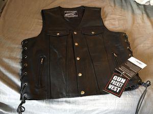 Motorcycle Leather Vest for Sale in Laurel, MD