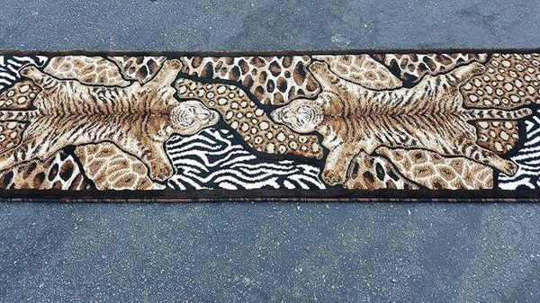 Animal print hallway area rug brand new