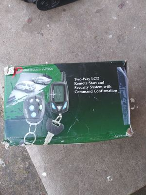 Universal Remote start and security system brand new never used for Sale in Plano, TX