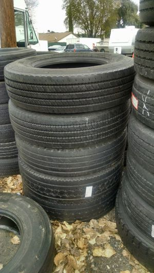 Good used Semi Truck and Trailer tires 275/80R22.5,295/75R22.5 Yokohama,Michelin, Continental I'm working hard for you Owner Operators $65ea for Sale in Lake Los Angeles, CA