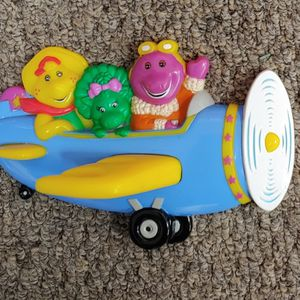 Vintage Barney The Dinosaur Airplane Wall Mount Toothbrush Holder Baby Bop BJ for Sale in Burlington, NC