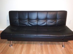 Queen size bed / sofa Leather futon for Sale in Sebring, FL