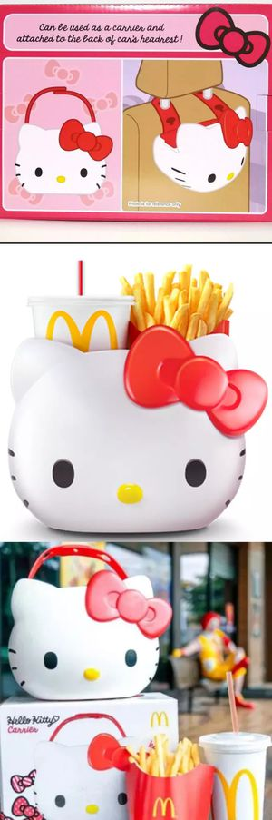 Brand New in box HELLO KITTY Hello Kitty McDonalds Bucket Sanrio French Fry Drink Holder Carrier Bucket Toy Purse Bag for Sale in City of Industry, CA