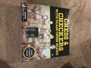 Chess and checkers glass board for Sale in Portland, OR