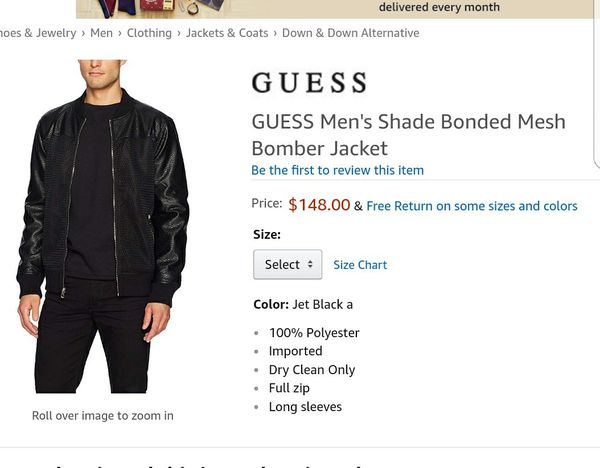 Guess Men Black Faux Leather Large Chamarra For Sale In Whittier Ca Offerup