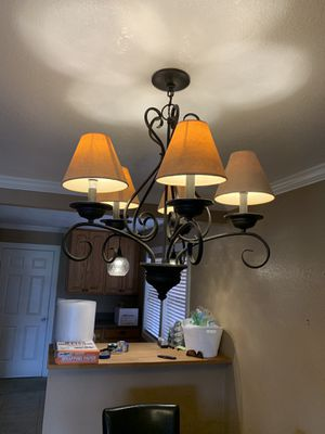 Iron Chandelier with 6 Lights for Sale in West Covina, CA