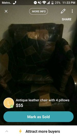Just chair and four pillows for Sale in Phoenix, AZ