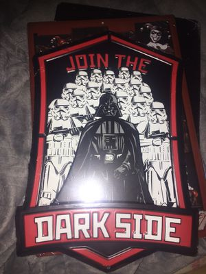 Star Wars death Vader metal art decor sign 9x13in for Sale in North Brunswick Township, NJ