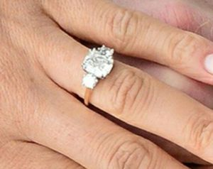 925 Sterling Silver 14K Gold Plated Cushion Cubic Zirconia Wedding Engagement Ring for Sale in Wichita, KS