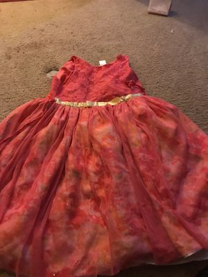 Hot pink and red dress with golden bow for Sale in Reston, VA