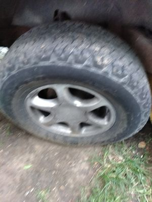 92 to 96 suburban 6lug wheels and tires bf goodrich 2657017 for Sale in St. Louis, MO