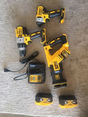 DEWALT XR brushless combo kit (Charger Included and 2-Batteries Included) for Sale in Stockton, CA