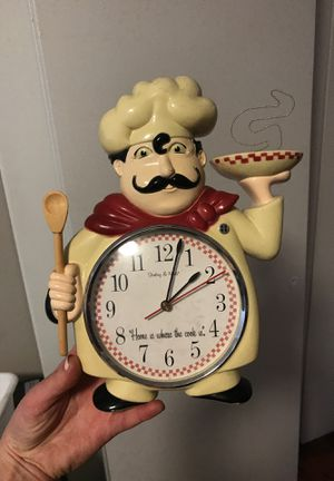 Kitchen chef clock for Sale in Houston, TX