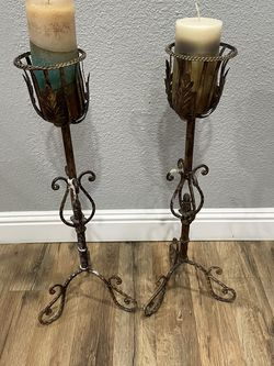 Rustic Antiqued Candle Holders for Sale in Pleasanton,  CA