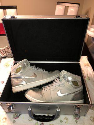 Nike Air Jordan 1 Retro Silver 25th Anniv. Suit Case Lmtd. for Sale in Fresno, CA