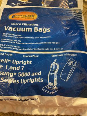 New 3 Vacuum Bags, BISSELL STYLE 1 & 7 # 840 for Sale in Valrico, FL
