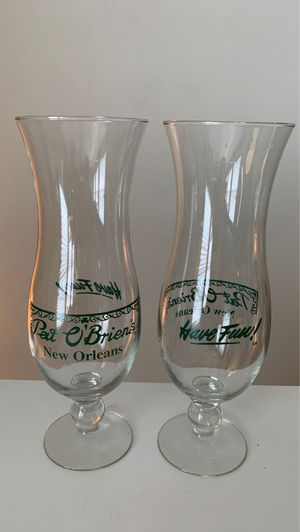 Pat O'Brians Hurricane Glasses for Sale in New Caney, TX