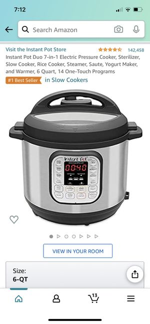 Instant Pot DUO 6Qt for Sale in Chicago, IL