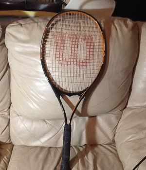 "Wilson V-matrix Titanium Xl Stop Shock Sleeves Tennis Racket 4 3/8"" has a few inks and scratches. But nothing to bad for Sale in Orlando, FL"