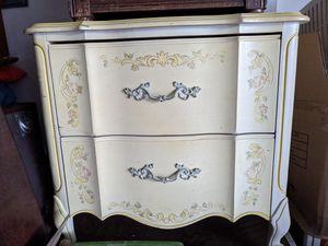 Vintage mid century modern Drexel Heritage hand painted bedroom furniture dresser antique for Sale in Las Vegas, NV