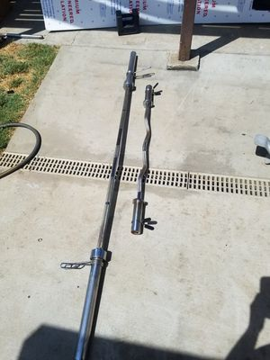 Barbell and curl bar for Sale in Colton, CA
