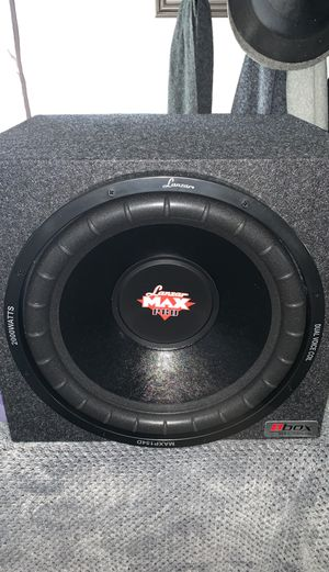 """Brand New Lanzar 15"""" DVC 4-ohms subwoofer w/ box, amplifier and kit for Sale in Gardena, CA"""