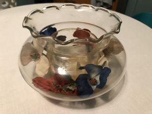 floral candle holder jar for Sale in Mascoutah, IL