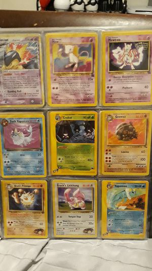 Pokemon oldschool collection trading cards for Sale in Pojoaque, NM