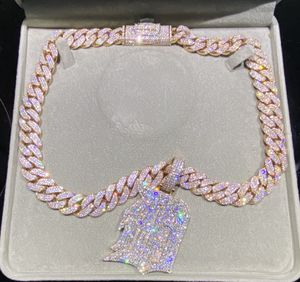 10K Rose Gold Cuban link Chain & Pendent (20 inch) for Sale in Miami, FL
