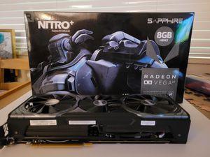 Sapphire Nitro+ Radeon RX Vega 64 | 8GB HBM2 Dual HDMI/DP (UEFI) PCI-E Graphics for Sale in Arlington, VA