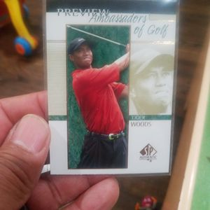 Tiger Woods 2001 Rookie SP Authentic Preview Ambassadors Of Golf for Sale in Montebello, CA