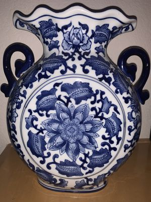Porcelain China Blue Vase for Seymour Mann for Sale in Sacramento, CA