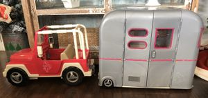 Our generation dolls Jeep and camper trailer combo for Sale in La Mirada, CA