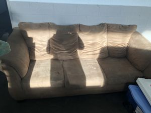Tan microfiber couch for Sale in Detroit, MI