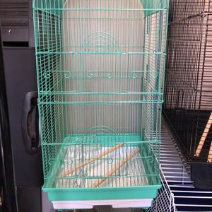 BIRD CAGE WITH STAND (COLOR TURQUOISE GREEN) for Sale in Riverside, CA