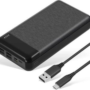 Portable Charger 30000mAh 4 Outputs Power Bank with USB-C Input External Battery Pack Compatible for iPhone 12, iPad, Samsung, Android, Tablet and Mor for Sale in Pomona, CA