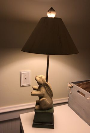 Cute wooden rabbit bunny lamp for Sale, used for sale  Tacoma, WA