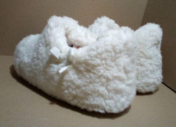 Kohl's Polyester Faux Fur Slip-On House Slippers
