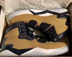 BRAND NEW, never worn, size 14 men's shoes. STYLE - 819952-706 COLORWAY - GOLD LEAF/WHITE-MIDNIGHT NAVY RETAIL PRICE - paid $180 new, Collector addi for Sale in Lafayette, IN