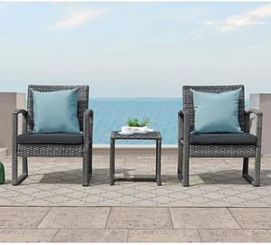 SHIPPING ONLY 3 Piece Patio Furniture Set w/Table and Chairs for Outdoor Areas for Sale in Las Vegas, NV