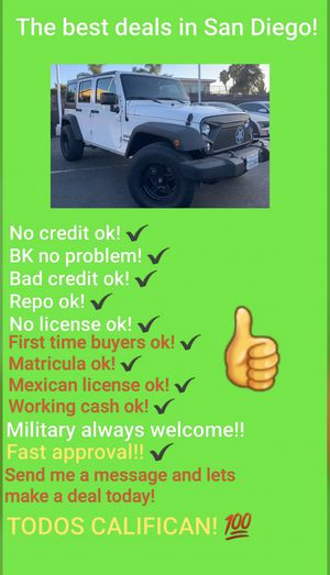 2015 JEEP WRANGLER UNLIMITED SPORT 4X4!!! for Sale in San Diego , CA