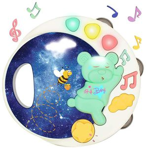 Brand New!!! Baby Musical Toy Tambourine Rattle Instrument with Music Light for Infant (Green) for Sale in Duluth, GA