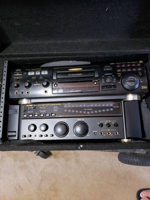 JVC XL-SV22 video CD PLAYER , AKJ7050 DIGITAL SOUND PROCESSOR ECHO KARAOKE AMPLIFIER IN CARRY CASE for Sale in Hewlett, NY