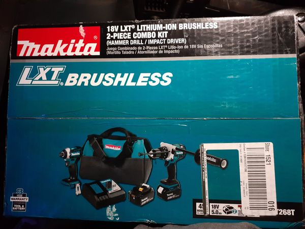 Makita 18volt Lxt Brushless Two Tool Combo Kit With Impact Driver & Hammer Drill