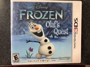 Disney Frozen Olaf's Quest game for Nintendo 3Ds for Sale in Griswold, CT