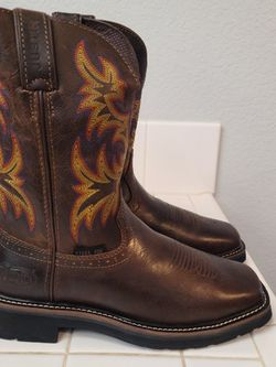 Brand New Justin Steel Toe Work Boots Size 8 for Sale in Riverside,  CA